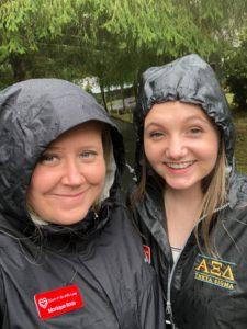 NC camp tours, rain or shine!
